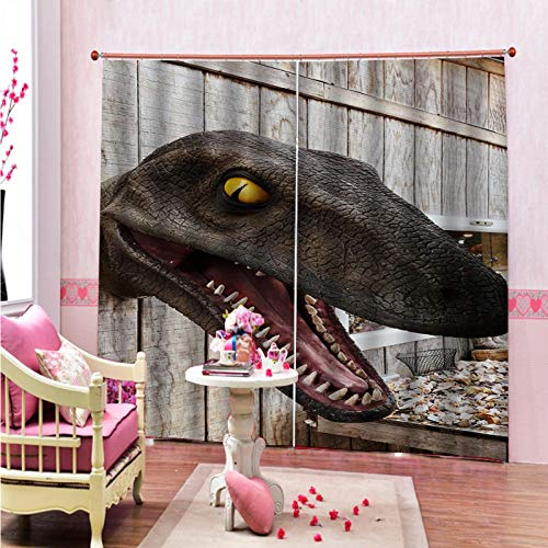 MMHJS Cortinas Impresas Serie Navideña 3D Cortinas Verticales Insonorizadas Impermeables De Poliéster Grueso Cortinas Opacas para Balcón De Dormitorio Y Sala De Estar (2 Piezas)