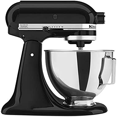Kitchenaid Tilting Stand Mixer Tilt 4.5-Quart ksm85pbob All Metal Housing and Gears Silver Metallic with Stainless Steel Bowl Tilt Artisan Style.