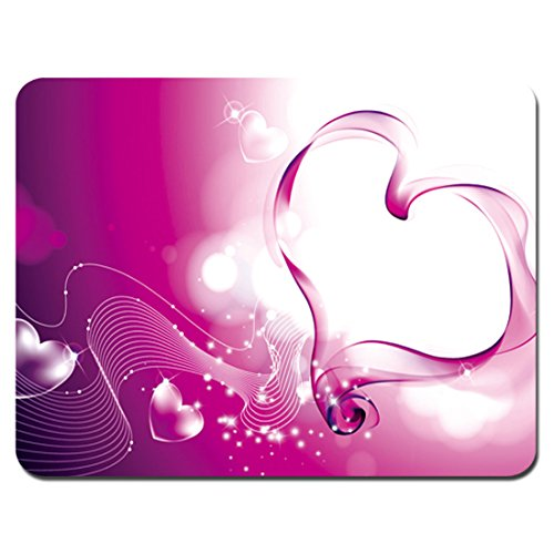 Meffort Inc Standard 9.5 x 7.9 Inch Gaming Mouse Pad - Pink Heart