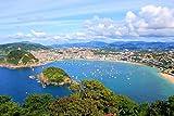 lunaprint San Sebastian Donostia Coastline Spain Europe