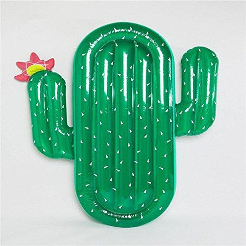 AZITEKE Riesige aufblasbarer Grüner Kaktus luftmatratze PVC schwimmmatratze, Pool-Lounger schwimminsel Schwimmgerät für Erwachsene & Kinder(Grüner Kaktus)