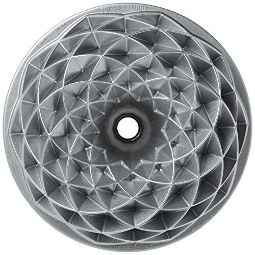 Nordic Ware 88337 Jubilee Bundt-Kuchenform, Aluminium, Silber, 27,9 x 14 x 5,4 cm