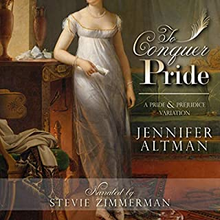 To Conquer Pride     A Pride and Prejudice Variation              By:                                                                                                                                 Jennifer Altman                               Narrated by:                                                                                                                                 Stevie Zimmerman                      Length: 9 hrs and 46 mins     30 ratings     Overall 4.7