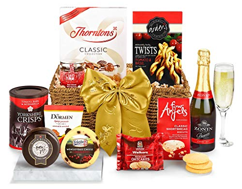 Oxford Hamper With Prosecco - Hand Wrapped Gourmet Food Basket, in Gift Hamper Box