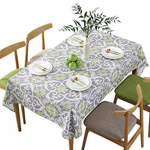 marca blanca Wipe Clean PVC Tablecloth Vinyl Oilcloth Kitchen Table Cover Protector140x100cm