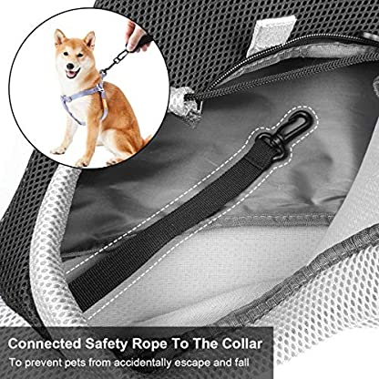 You Pet Dog Sling Carrier, Breathable Mesh Travelling Pet Hands-Free Sling Bag Adjustable Padded Strap Front Pouch Single Shoulder Bag for Dogs Cats 4