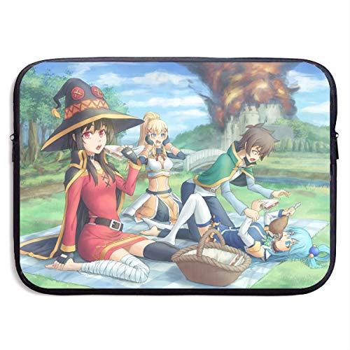 Hdadwy KonoSuba Picnic Amime Laptop Bag Cartoon Handbag Ultraportable Sleeve Carrying Case for 15 Inch Laptop,MacBook Pro, MacBook Air,Notebook