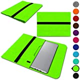 UC-Express Sleeve Tasche für Acer Spin 3 - Spin 5 - Spin 5 Pro - Spin 7 13,3-14 Zoll Hülle Filz Schutzhülle Case, Farbe:Grün