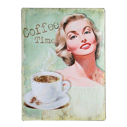 Metalen bord Schnickschnack | 2 borden voor de prijs van een | Motief willekeurig koffiethema | Geschenken voor hem | Retroschnickschnack | Reclame spiegel koffie met verwisselbare motievenhild | Decoratie | Keukenspiegel voordelig |