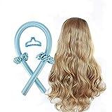 Heatless Curling Rod Headband - Lazy Curler Set, No Heat Curls Silk Ribbon Heatless Hair Overnight Sleep Styler Wave Formers Hair Curlers Long Medium Hair Styling Tool (blue)