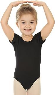 elowel | Leotardo | Traje Deportivo para Nina | Manga Corta Falda | Material Suave y Elastico | Tallas Disponibles: 2-4 Anos 4-6 Anos 6-8 Anos 8-10 Anos 12-14 Anos