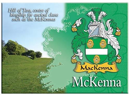 iLuv McKenna Irlandesi Cognome Souvenir Metallico Immagine Calamita da Frigo