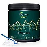 CREATINA Vegavero Sport | 500 g con misurino incluso | Insapore, Monoidrata e Micronizzata 200 Mesh | Ottima Solubilit | Vegan