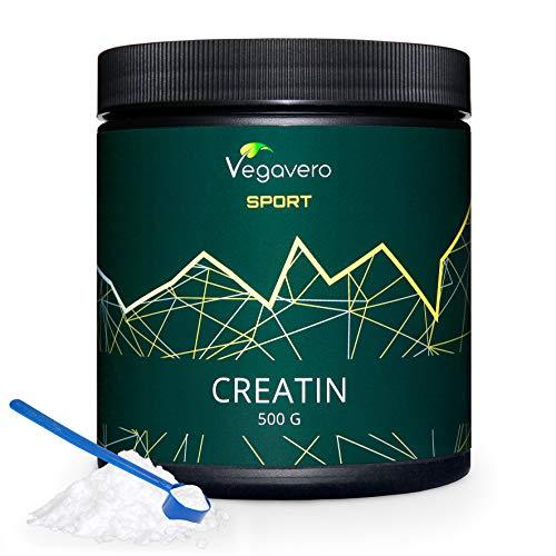 Creatina Monohidratada Vegavero Sport | La Única Sin Aditivos | Micronizada Mesh 200 | Con Certificado de Pureza | Testada en Laboratorio | Aumentar Masa Muscular | 500 g | Pre Workout | ATP