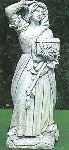 pompidu-living Burgfrau, Steinfigur, Gartenfigur Farbe Sandstein Farbe Sandstein