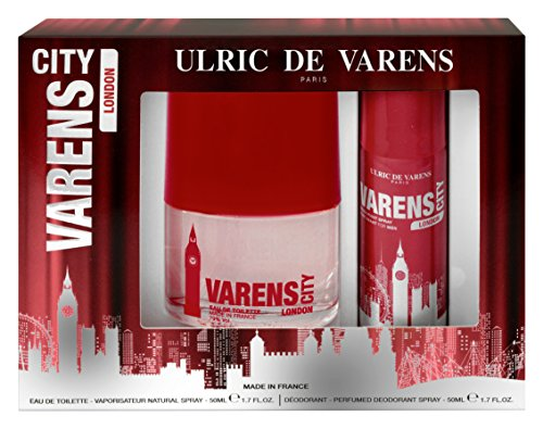 "Ulric de Varens Set de Regalo con Eau de Toilette y Desodorante Spray ""London"" - 1 Pack (500 ml + 50 ml)"