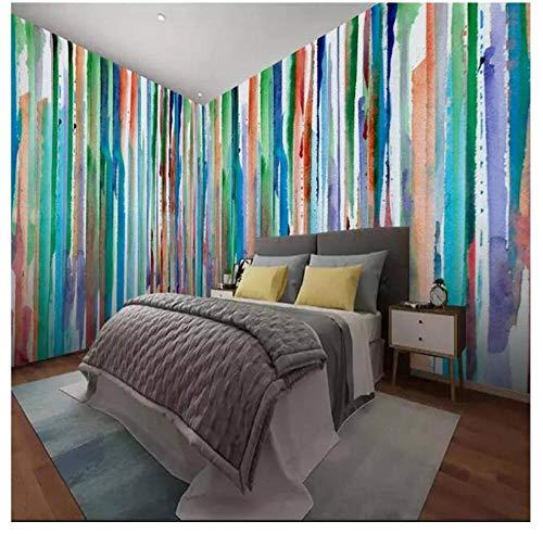 Behang aangepaste 3D kinder fotobehang voor meisjes baby kinderkamer slaapkamer gestreept behang kleurrijk abstract kunst 400 x 280 cm.
