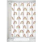 iDesign Duschvorhang mit farbigem Regenbogen-Motiv, Badzubehör aus Polyester für die Dusche oder Badewanne, wasserabweisender Spritzschutz für das Badezimmer, bunt