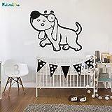 Tianpengyuanshuai Animal Etiqueta de la Pared decoración de la casa del Perro para la habitación de los niños vivero Vinilo Autoadhesivo Lindo Arte Mural Decal Regalo 40x51cm