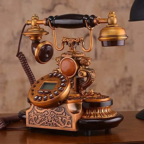 Adornos de teléfono decorativos Regalo para la decoración del hogar Madera sólida, Estilo europeo, Teléfono [Retro], uso doméstico, [creación], Adorno de decoración de escritorio para el hogar.