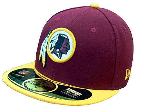New Era Cap NFL Washington Redskins on Field, Team Maroon, 7 1/8