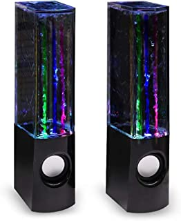 $22 » Aolyty LED Water Speaker with Dancing Fountain Light Show Sound for PC, MP3 Player, Laptops, Smartphone USB-in Speakers (B...