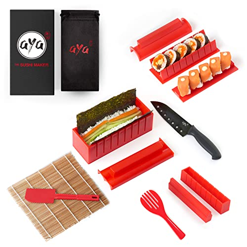 Le Sushi Maker AYA - Appareil et Moules à Sushi - Kit...