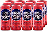 High Brew Cold Brew Coffee, Double Espresso, 8 Ounce Cans (Pack of 12)