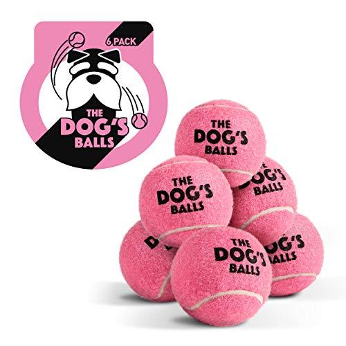 The Dog's Balls, Tennisbälle für Hunde, Pink, 6 Stück