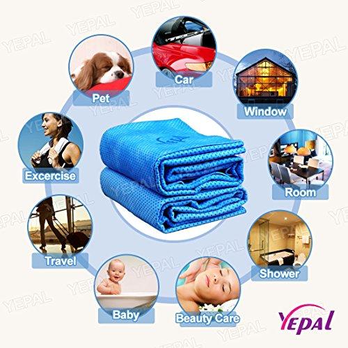 Yepal PVA Chamois Towel 26 x 17-Inch Blue