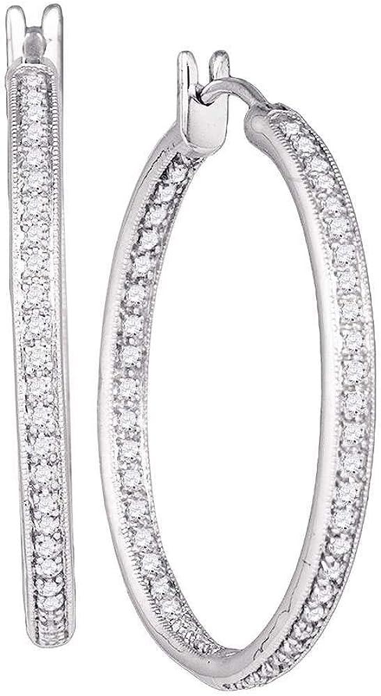 1 2 Carat Diamond Easy-to-use Hoop Earrings in Gold