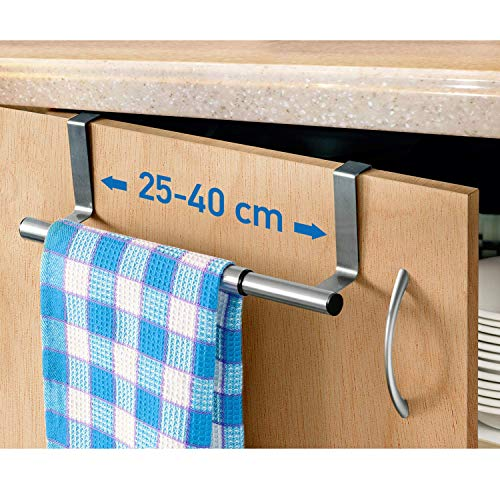 art moon Spread Barra Porta Asciugamani Espandibile in Acciaio Inox 25/40X8X9cm