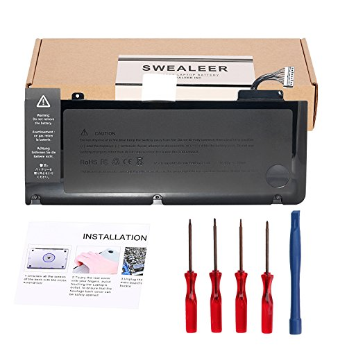 SWEALEER A1322 Battery Compatible with MacBook Pro 13 Inch Laptop A1278 (Mid 2009 2010 2012 Early Late 2011) Replacement 661-5229 661-5557 020-6765-A MB990LL/A MB991LL/A MC374LL/A [10.95V 72WH A1322]