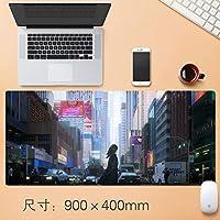 Vampsky 拡張大型プロフェッショナルゲーミングマウスパッド日本のアニメロリ表マットホームオフィス厚み付けすべり止めラバーベース耐水性デスクマットのノートパソコンのキーボードパッドで縫製エッジ90 * 40センチメートル (サイズ : Thickness: 4mm)