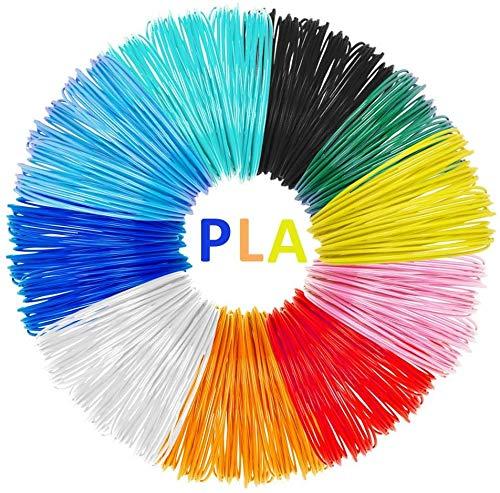 Filamenti di Penne 3D AveyLum 10 Confezioni 1.75mm Filamenti di PLA con stampa 3D Riempimenti Filamenti di Stampanti 3D Colorate 5M