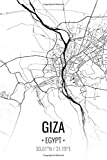 Giza Egypt: City Map Notebook for Travelers, Diary Writing Subject Memo Book Planner with Lined Paper, 6x9 Inches, College Ruled | 100 Pages