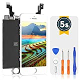 bokman LCD Pantalla para iPhone 5s/SE, Táctil LCD Reemplazo con Herramientas de Reparación(Blanco)