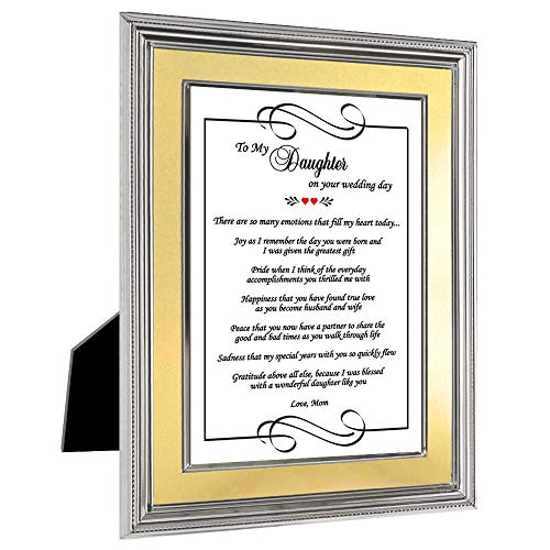 Special Wedding Card Gift for Daughter from Mother in Frame