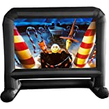 """14 FT Inflatable Projector Movie Screen for Outside Indoor 104"""" Front/Rear Projection Blow Up Screen for Backyard Outdoor Movie Night Halloween Barbecue Party (Stable Base)"""