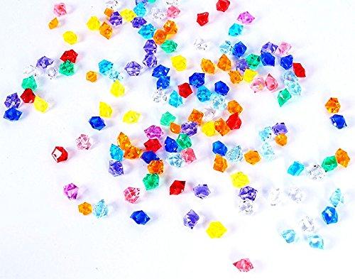 1000PCS Cristales de acrílico Rocas de hielo Piedras de gemas de colores para rellenos de jarrones, Dispersión de mesa, Favor de la fiesta (multicolor, 1.4 cm)