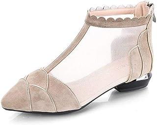 375f726bc91 Zapatos de Mujer con Sandalias Ligeras Y Casuales con Cremallera Tacón  Medio Playa de Verano Dedo