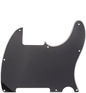 Musiclily 8 Hole Telecaster Pickguard Blank Guitar Scratch Plate for Fender USA/Mexican Tele Esquire Guitar, 3Ply Black