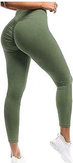 Rimi Hanger Womens Scrunch Butt Lift Push Up Leggings Ladies Gym Yoga Fitness Sports Pants