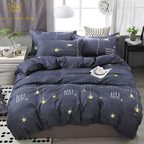 DPJ Juego de cama de 4 piezas de diseño de árbol americano, tejido de poliéster de gran tamaño, funda nórdica de 200 x 230 cm