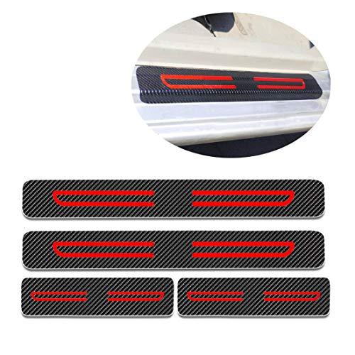 Für C1 C2 C3 C4 C5 C6 Einstiegsleisten Schutz Aufkleber,Verschleiß vermeiden Verhindern Sie Kratzer Rutschfest Kohlefaser 4Stück Rot