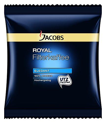 Jacobs Royal Elegant HY Filterkaffee - 80 x 60g Kaffee gemahlen, 100% Arabica