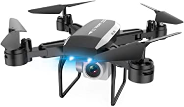 Sttech1 Foldable RC Drone with Auto Hovering, Portable Quadcopter with 1080P Camera Selfie Drone, Headless Mode, One Key Take Off/Landing, Good Gifts for Kids Boys Girls (Black)