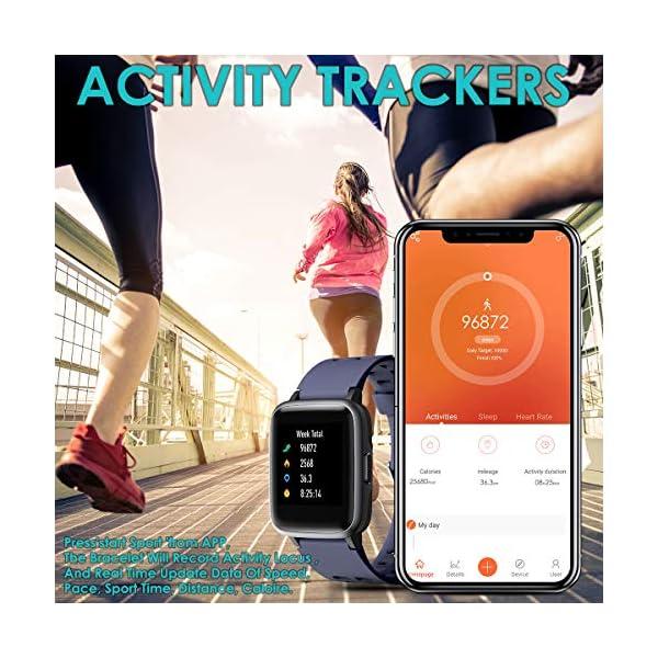 HOMVILLA Pulsera Actividad, Fitness Tracker, Reloj Inteligente Impermeable IP68 con Pulsómetro Monitor de sueño Pulsera… 6