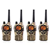 Midland GXT1050VP4 Long Range JIS4 Waterproof 50-Channel FRS/GMRS Two-Way Camo Radio (4 Pack)