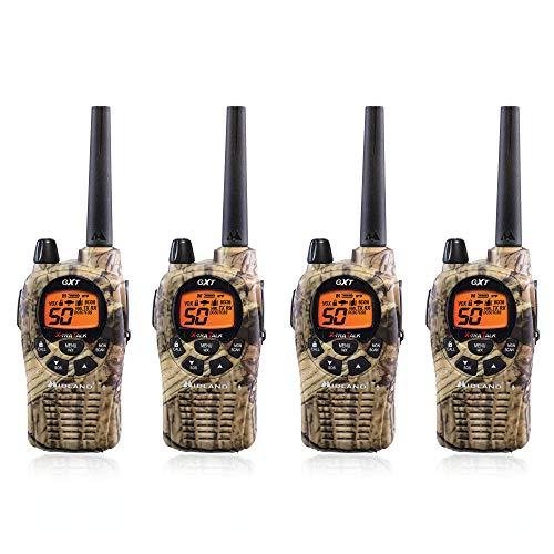 Midland GXT1050VP4 Long Range Walkie Talkie - 50 Channel GMRS Two Way Radio (Mossy Oak Camo, 4 Radios)